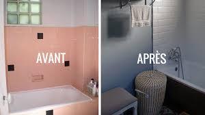 deco salle de bain avec baignoire avant après rénover une salle de bains dans un style néo rétro