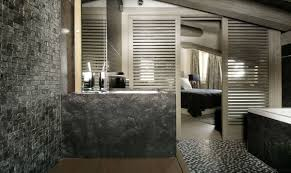 black furniture decor luxury bathroom stone tiles expensive