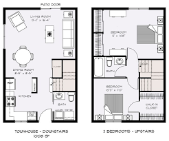 modern townhouse plans townhouse plans home plans