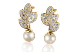 diamond earrings with price buy aarna pearl diamond earrings online in india at best price