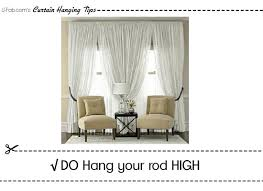 How To Hang Drapes Faq U2013 How To Hang Window Treatments