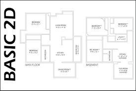 basic floor plan basic 2d floor plan west coast measuring