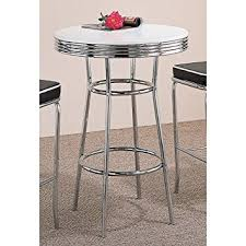 Retro Bar Table Coaster Retro Style Bar Table With White Top