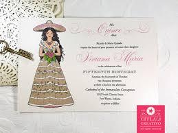 quinceanera invitations charro lasercut doily quinceañera invitations citlali creativo llc