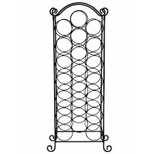 chrome stainless steel wine rack with regard to floor standing