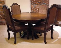 5 pc round pedestal dining table old world 5pc round pedestal table chair set rotmans dining 5