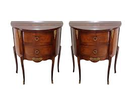 viyet designer furniture tables antique small demilune