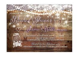 Wedding Shower Invites Rustic Mason Jar Bridal Shower Invitation Odd Lot Paperie