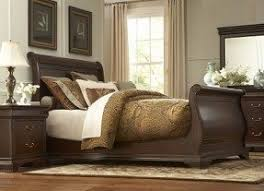 Louis Philippe Sleigh Bed Cherry Sleigh Bed Queen Foter