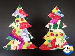 edges trimmed recycled paper christmas tree craft kidz activities