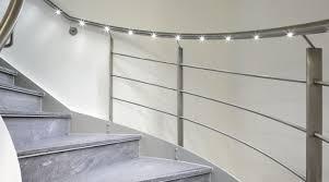 stair handrail lighting systems installation stair handrail