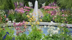 cliserpudo beautiful flower garden with fountain images