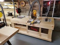 Table Saw Router Table Custom Built Downdraft Table And Workstations Enhance Woodshop U0027s