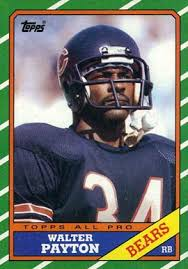 1986 topps walter payton 11 football card value price guide