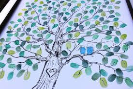 alternative wedding gift registry ideas original wedding gift thumbprint guest book tree wedding tree