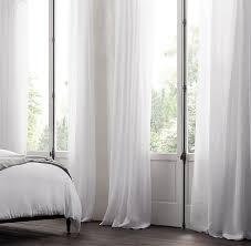 sheer linen drapery