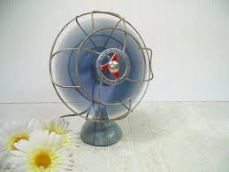old fashioned electric fan vintage two tone blue chicago electric from divine orders