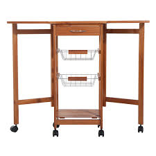 homcom folding rolling trolley kitchen cart table island with homcom folding rolling trolley kitchen cart table island with basket