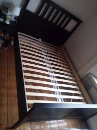 ikea double bed double bed wooden frame ikea hemnes black manual note no