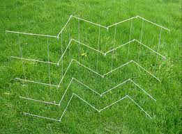heavy duty pea trellis with eight hinged panels with individual 8
