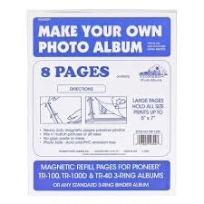 Pioneer Pioneerphotoalbums Amazon Com Magnetic Refill Pages For Pioneer Tr 100 Tr 100d And