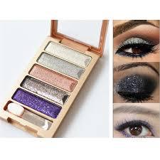 5 color glitter eyeshadow makeup eye shadow palette buycoolprice