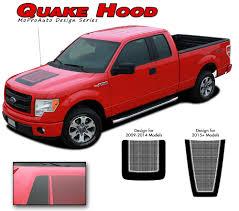 ford truck red f 150 quake hood ford f 150 hockey stripe