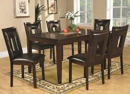 espresso dining room sets dining chairs 7 piece espresso dining set table with butterfly