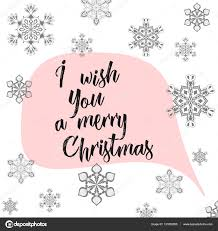 winter calligraphy i wish you a merry christmas hand drawn modern