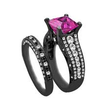 black engagement ring set beautiful black engagement wedding ring sets with black