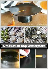 graduation cap centerpieces cook and craft me graduation cap centerpieces