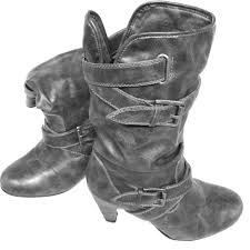 womens boots dsw 50 boots dsw grey buckle boots from raechal s closet on