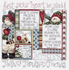 janlynn 1 four seasons birds counted cross stitch kit