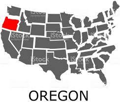 Usa Map Image Oregon State On Usa Map Stock Vector Art 834262948 Istock