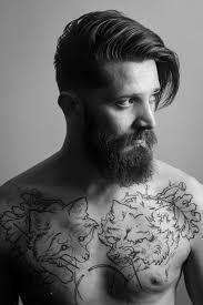 classic undercut hairstyle full thick dark beard and mustache beards bearded man men undercut