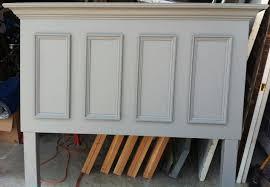painted headboard queen size door headboard made with a slab door painted chelsea
