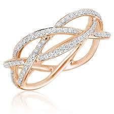 braided ring 0 53ct f i1 diamond braided ring