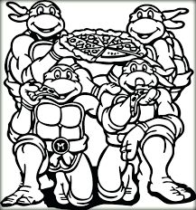 ninja turtles coloring pages book toddlers pizza ninja