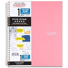 amazon com five star spiral notebook 1 subject graph ruled
