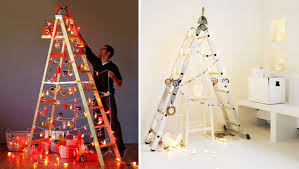 Decorative Christmas Tree Ladders by 5 Diy Non Traditional But Equally Festive Christmas Trees Homecrux