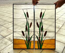 Best  Stained Glass Cabinets Ideas On Pinterest Stained Glass - Glass panels for kitchen cabinets