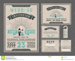 Vintage Wedding Invitation Card Classic Vintage Wedding Invitation Card Design Stock Vector