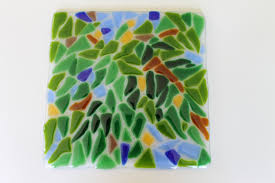 wall tile lush foliage art tile arts and crafts style