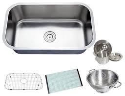 Chef Series Premium Undermount Single Bowl Kitchen Sink - Kitchen sink accessories