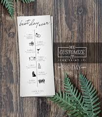 customizable wedding programs best day customized wedding timeline infographic