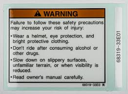 genuine suzuki gsx r1100l model l cowling warning label 68319