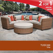 Outdoor Living Patio Furniture Tuscan 6 Piece Outdoor Wicker Patio Furniture Set 06a Design