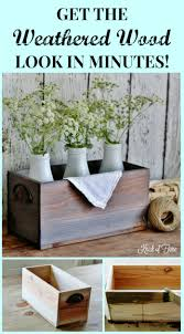How To Make Furniture Look Rustic by Get The Look Of Reclaimed Barn Wood In Minutes Weathered Wood