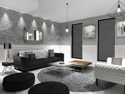 idee deco salon canape noir deco salon blanc et noir gris on decoration d interieur moderne