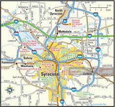 Syracuse Ny Map Syracuse New York Area Vector Art Getty Images